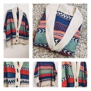 Oversized Holiday Season Cardigan / Sweater